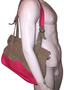 Hunter Tote in gray / hot pink
