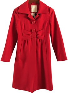 Kate Spade Wool Fitted Trench Coat