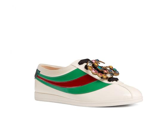 Gucci Falacer Web Gg Crystals Patent