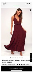 fe51272f152 Lulu s Burgundy Rayon Tricks Of The Trade Casual Bridesmaid Mob Dress Size 4