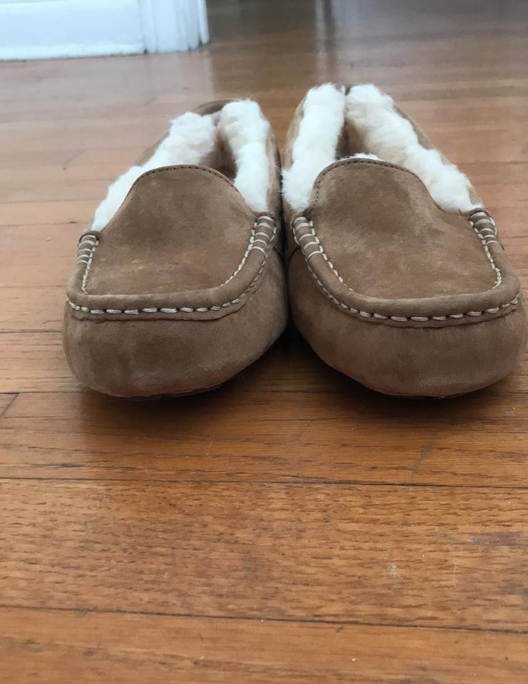 Tan Moccasin Slippers Sandals