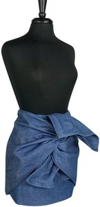 C/meo Collective C/Meo Bow Mini Skirt Blue Denim