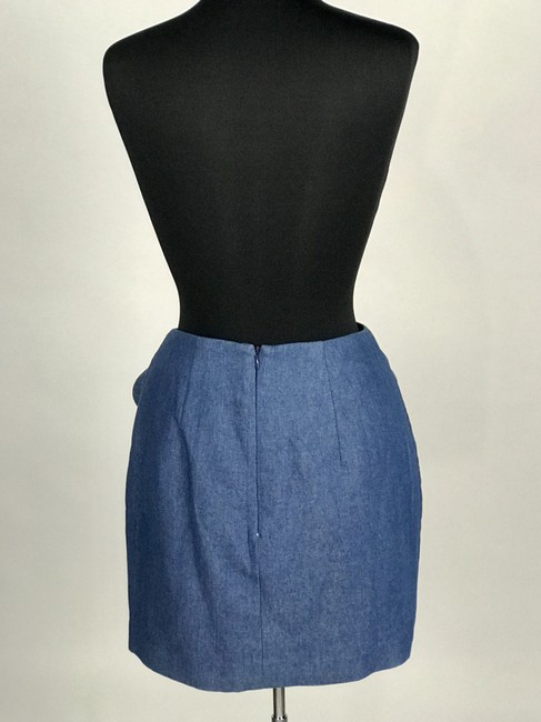 C/meo Collective C/Meo Bow Mini Skirt Blue Denim Image 2