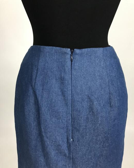 C/meo Collective C/Meo Bow Mini Skirt Blue Denim Image 3