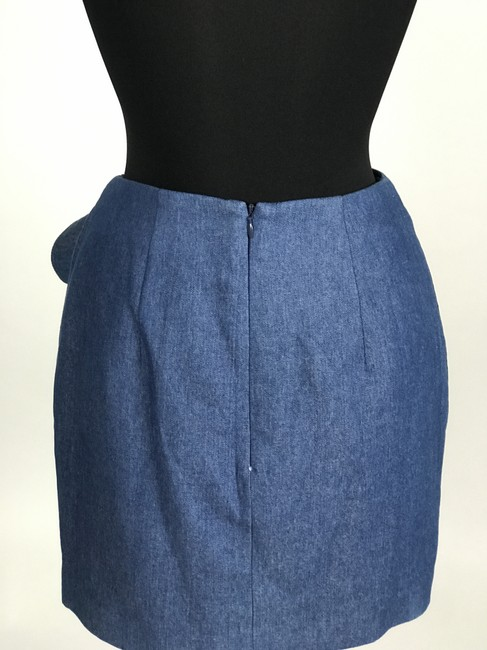 C/meo Collective C/Meo Bow Mini Skirt Blue Denim Image 4