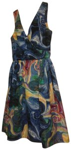 Modcloth short dress Blue abstract print Date Night Night Out & Dot on Tradesy