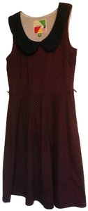 Modcloth short dress Navy and red polka dot Date Night Night Out Fervour on Tradesy