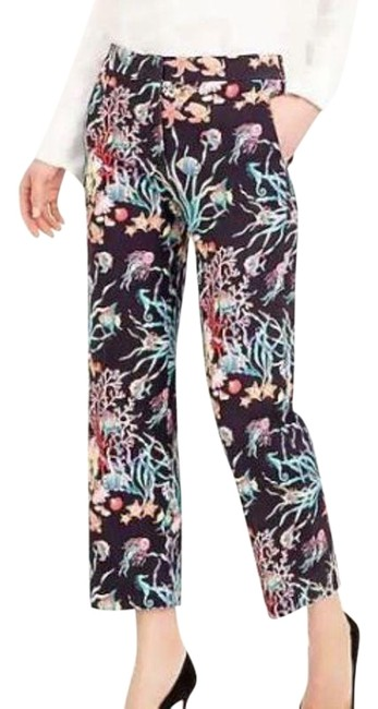 Item - Navy and Multi Patio In Ratti Under The Sea Print Pants Size 8 (M, 29, 30)