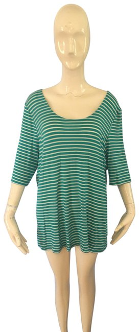 Preload https://img-static.tradesy.com/item/25127374/market-and-spruce-green-and-white-tee-shirt-size-16-xl-plus-0x-0-1-650-650.jpg