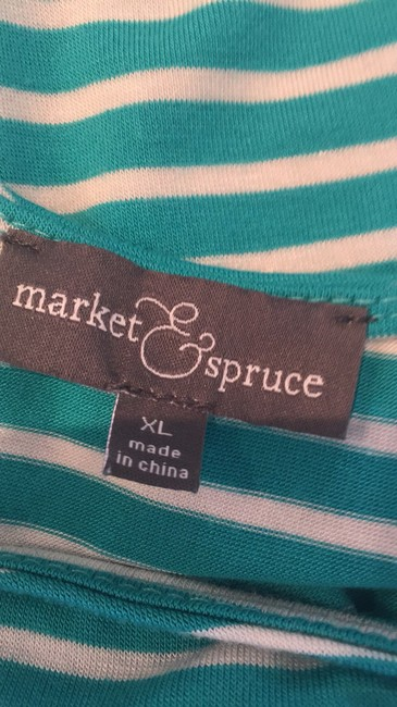 Market & Spruce T Shirt Green and white Image 4