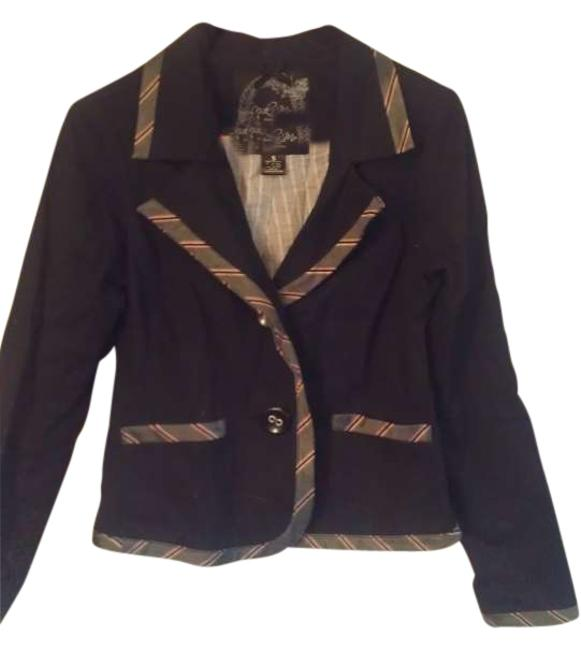 Item - Black Pink And Jacket Blouse Size 4 (S)