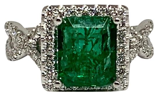 Preload https://img-static.tradesy.com/item/25127525/green-certified-5950-ladies-emerald-and-diamond-18kt-white-gold-307-tcw-13134-ring-0-7-540-540.jpg