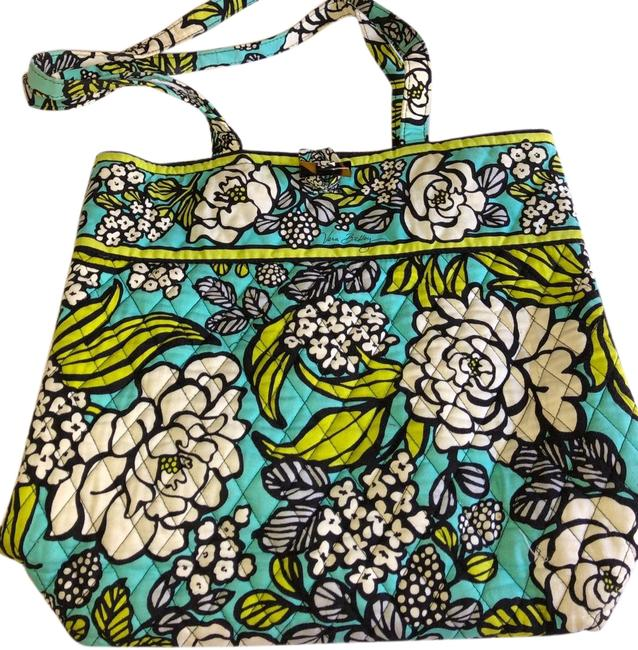 Item - Island Blooms Teal Cotton Tote