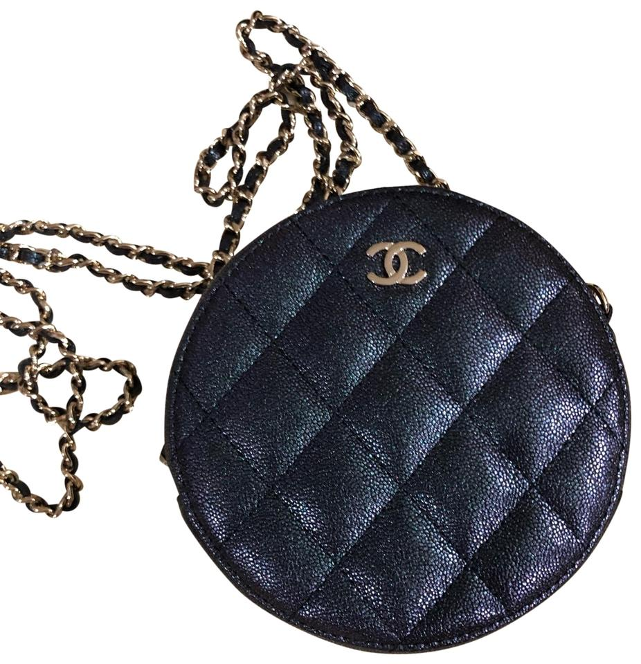cc8f201c89 Chanel Wallet on Chain With Iridescent Caviar Leather 2019 Spring/Summer  Black Cross Body Bag