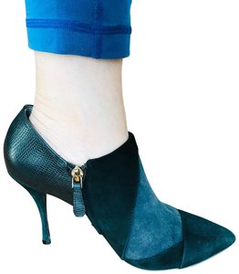 Tory Burch black, blue Boots