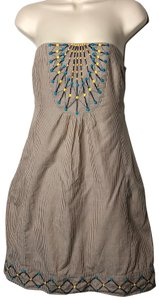 Anthropologie short dress brown on Tradesy