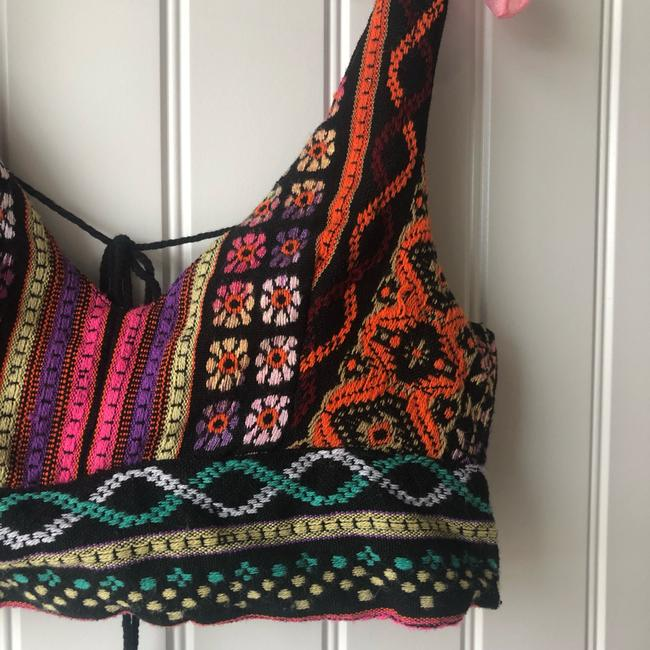 Urban Outfitters Crop Embroidered Print Boho Bohemian Top Multi Image 1