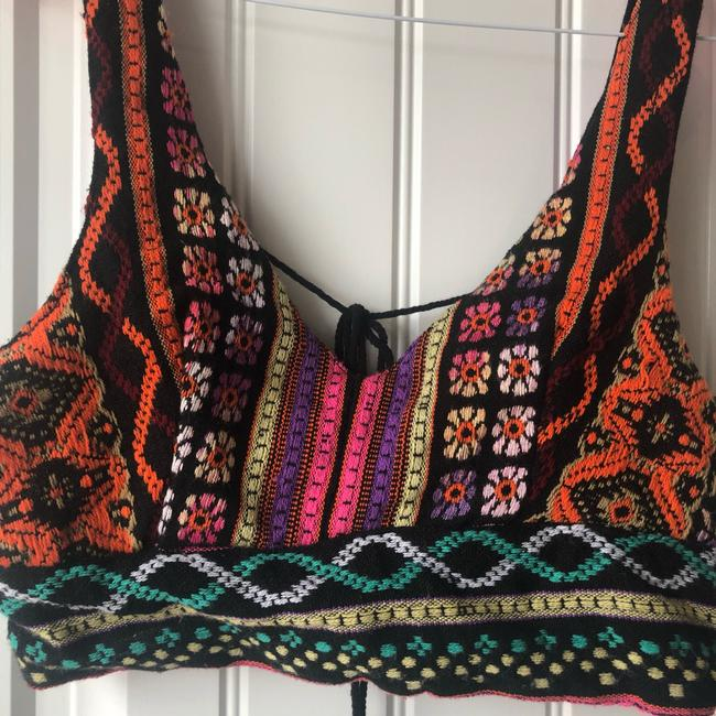Urban Outfitters Crop Embroidered Print Boho Bohemian Top Multi Image 2