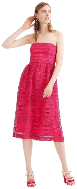 Preload https://img-static.tradesy.com/item/25127840/jcrew-pink-strapless-mixed-lace-mid-length-cocktail-dress-size-10-m-0-1-650-650.jpg