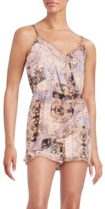 BCBGeneration Ruffles Playsuit Floral Dress