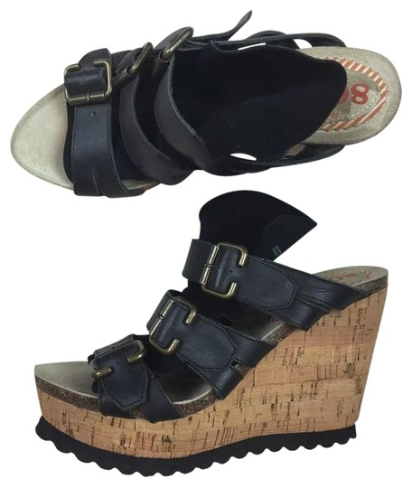 80%20 black leather Wedges Image 0