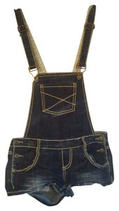 Wet Seal Coveralls Jean Jean Coveralls Blue Denim Mini/Short Shorts blue jean