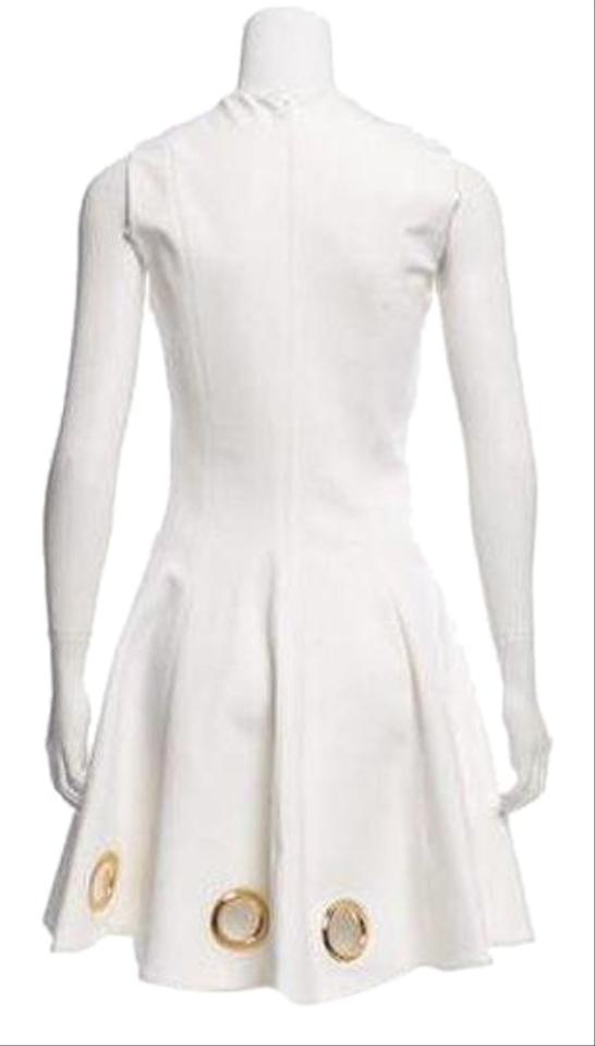 960653b6c37d Cushnie et Ochs White Mini Gold Grommets Short Night Out Dress Size ...