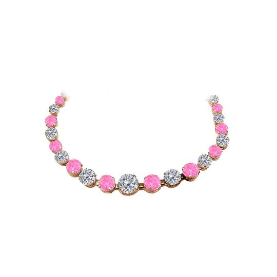 Preload https://img-static.tradesy.com/item/25128051/pink-sapphire-graduated-rose-gold-vermeil-necklace-0-0-540-540.jpg