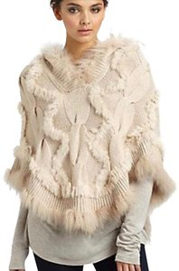 Glamourpuss 100% Cashmere and Asiatic Raccoon Fur Poncho Cape