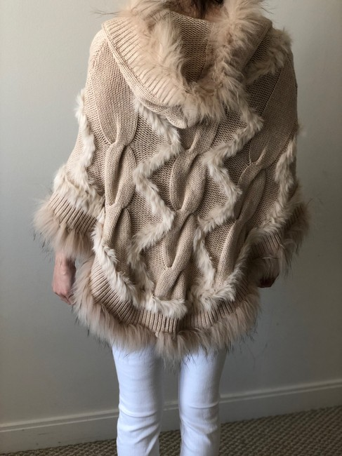 Glamourpuss 100% Cashmere and Asiatic Raccoon Fur Poncho Cape Image 2