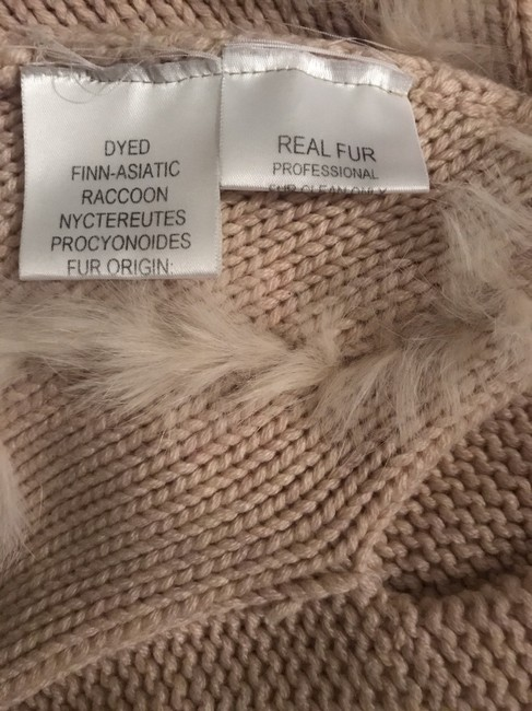 Glamourpuss 100% Cashmere and Asiatic Raccoon Fur Poncho Cape Image 7