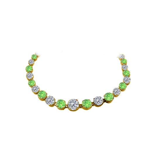 Preload https://img-static.tradesy.com/item/25128124/green-cz-peridot-graduated-18k-yellow-gold-vermeil-necklace-0-0-540-540.jpg
