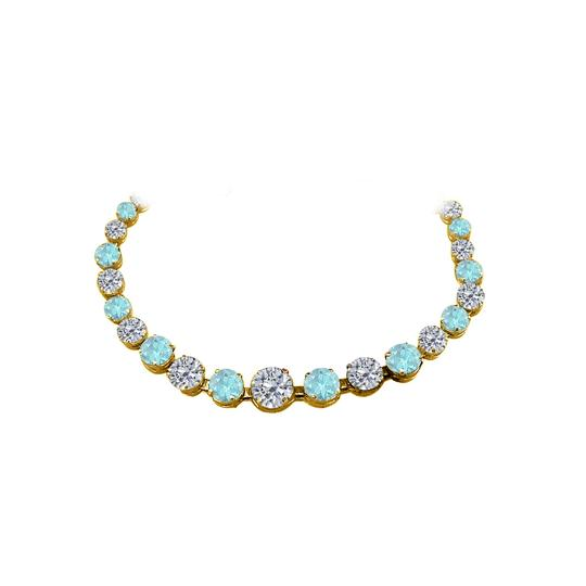 Preload https://img-static.tradesy.com/item/25128144/blue-cz-aquamarine-graduated-yellow-gold-vermeil-necklace-0-0-540-540.jpg