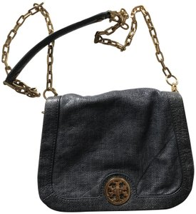 Tory Burch Pebbled Chain Strap Leather Shoulder Bag