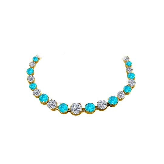 Preload https://img-static.tradesy.com/item/25128152/blue-topaz-graduated-yellow-gold-vermeil-necklace-0-0-540-540.jpg