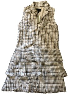 J.Crew short dress Embellished Tan Plaid Collection Gingham on Tradesy