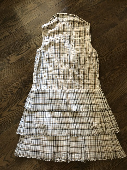 J.Crew short dress Embellished Tan Plaid Collection Gingham on Tradesy Image 2