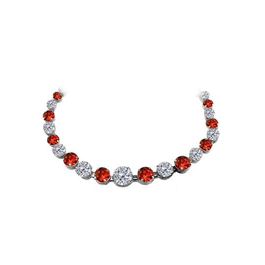 Preload https://img-static.tradesy.com/item/25128220/red-garnet-cz-graduated-925-sterling-silver-necklace-0-0-540-540.jpg