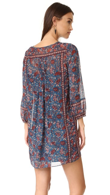Joie short dress Wine and Navy Blue Printed on Tradesy Image 1