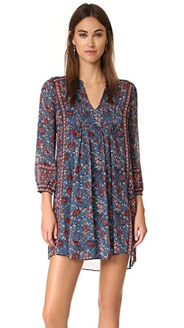 Joie short dress Wine and Navy Blue Printed on Tradesy Image 2