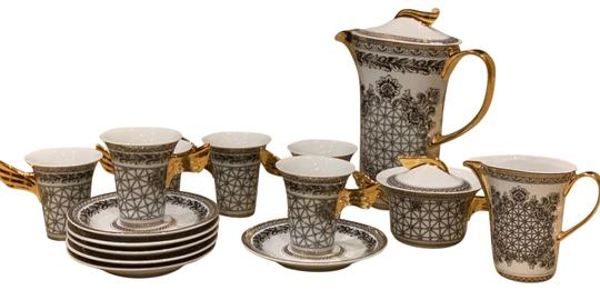 17 Piece Italian Design Rutherford Margueterie Tea Set Margueterie Italy Image 0