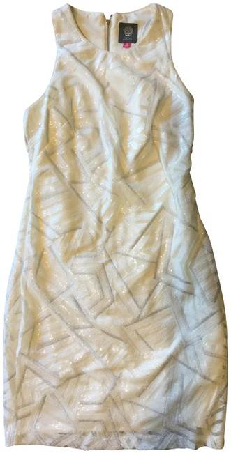 Item - Ivory/Silver Vc5m9073 Short Cocktail Dress Size 0 (XS)
