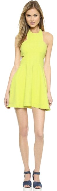 Preload https://img-static.tradesy.com/item/25128386/elizabeth-and-james-yellow-neon-darrien-cut-out-halter-short-casual-dress-size-2-xs-0-1-650-650.jpg