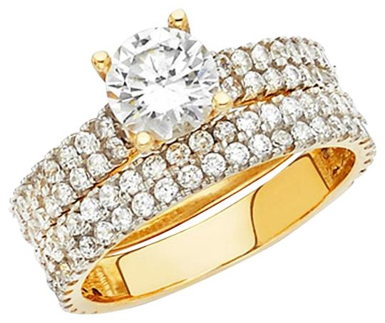 Preload https://img-static.tradesy.com/item/25128392/yellow-1-ct-round-cut-4-row-two-tone-fisthtail-cz-engagement-in-14k-ring-0-2-540-540.jpg