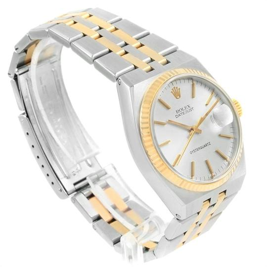 Rolex Rolex Oysterquartz Datejust Steel Yellow Gold Silver Dial Watch 17013 Image 2