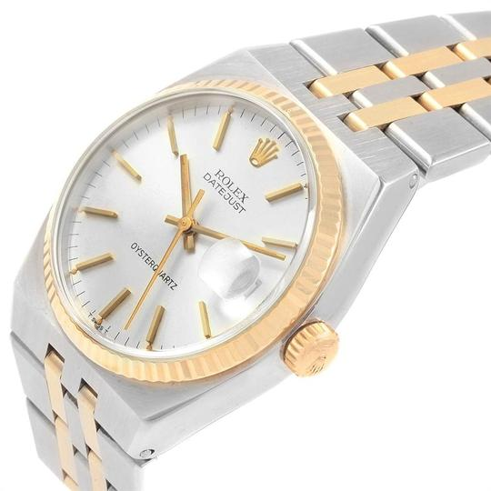 Rolex Rolex Oysterquartz Datejust Steel Yellow Gold Silver Dial Watch 17013 Image 4