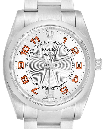 Preload https://img-static.tradesy.com/item/25128571/rolex-silver-air-king-concentric-orange-dial-unisex-114200-watch-0-1-540-540.jpg