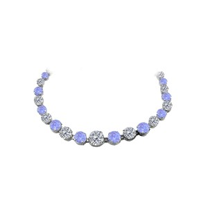 Marco B Tanzanite CZ Graduated Necklace in 925 Sterling Silver