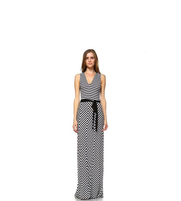 Black and White Maxi Dress by York Couture Image 1
