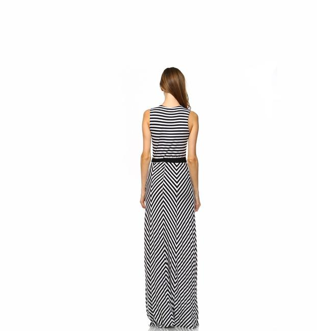 Black and White Maxi Dress by York Couture Image 2